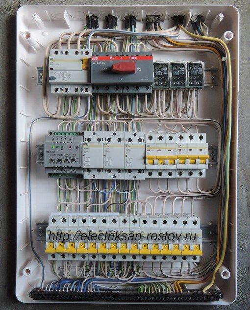 Схема подключения переключателя фаз ПЭФ-301 11