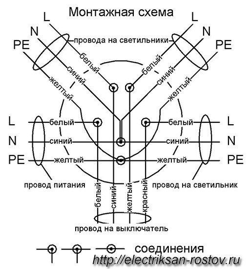 Электрика коробки схема